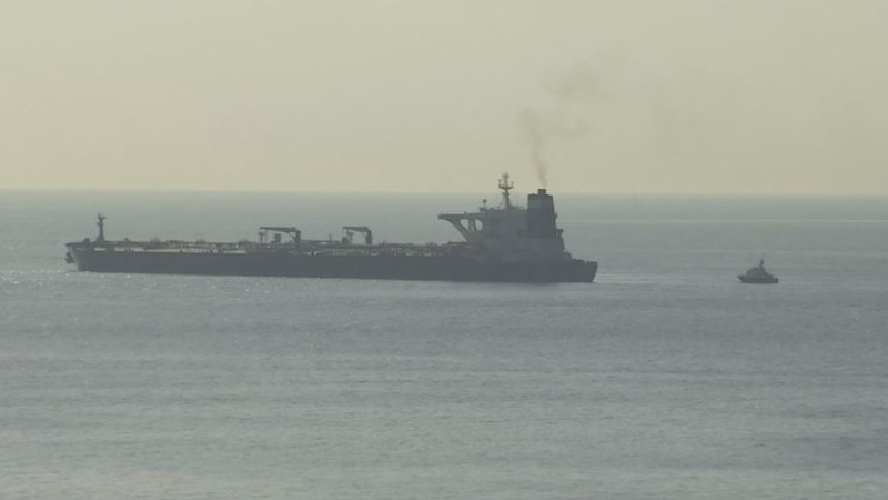 Marines detain oil tanker 'bound for Syria'