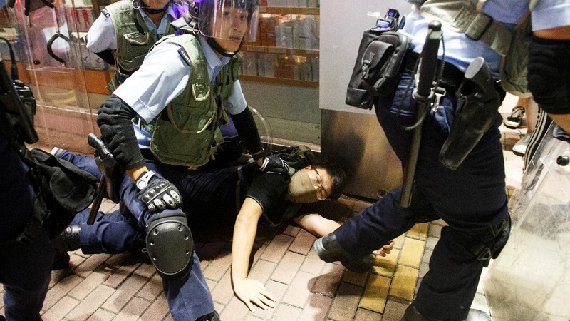 Hong Kong march ends in clashes and arrests