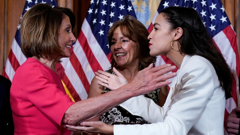Pelosi urges unity amid discord with AOC