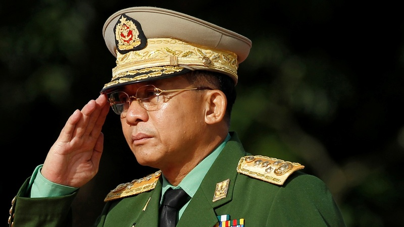 U.S. slaps sanctions on Myanmar's army chief