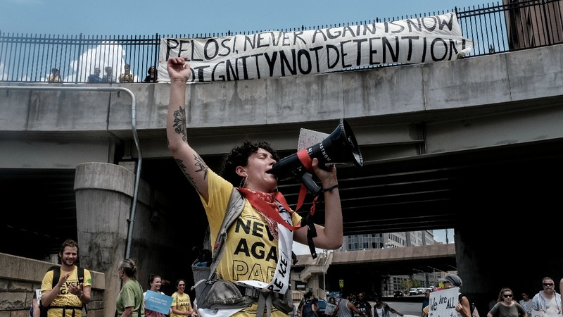 Protesters shut down ICE headquarters in DC
