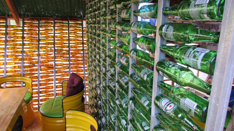 Inside a Cambodian cafe built out of trash