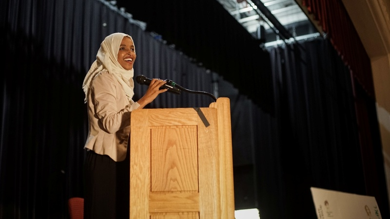 Omar met with cheers after 'send her back' chant