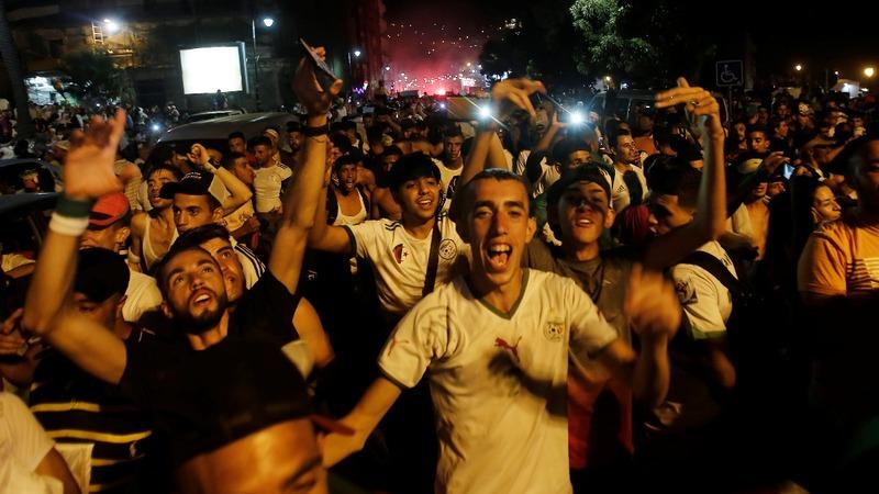 Algeria celebrates AFCON soccer win over Senegal