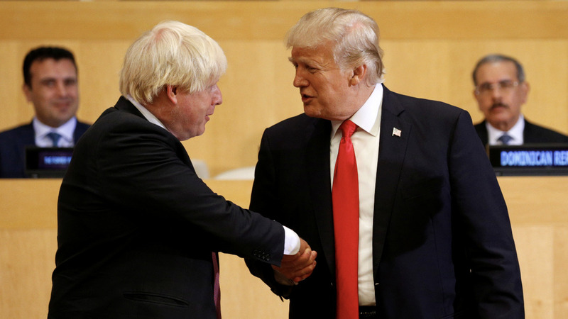 Trump sees kindred spirit in Boris Johnson