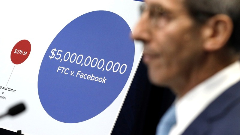 Facebook to pay record $5 billion fine