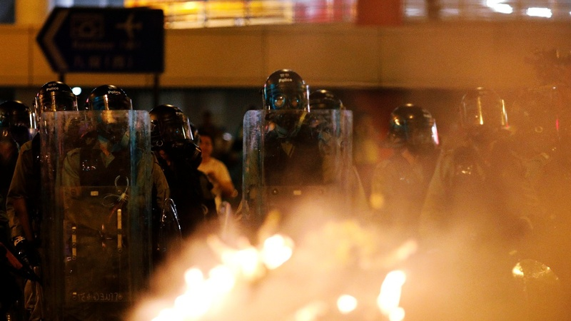 Beijing won't rule out Hong Kong military action