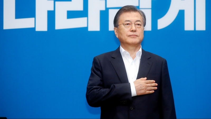S. Korea 'won't be defeated again' by Japan: Moon