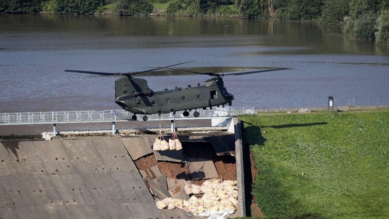 UK town evacuated after reservoir dam damaged