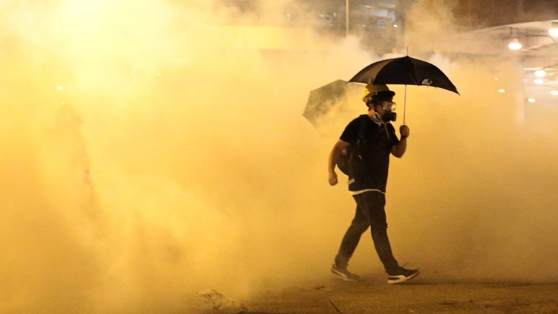 Police fire teargas as Hong Kong protests ignite