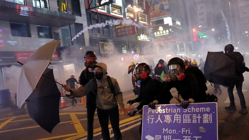 Beijing's warning as Hong Kong's protests rage on