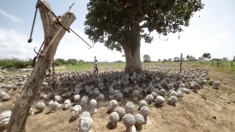 Ghana's sea of sculpted slave heads