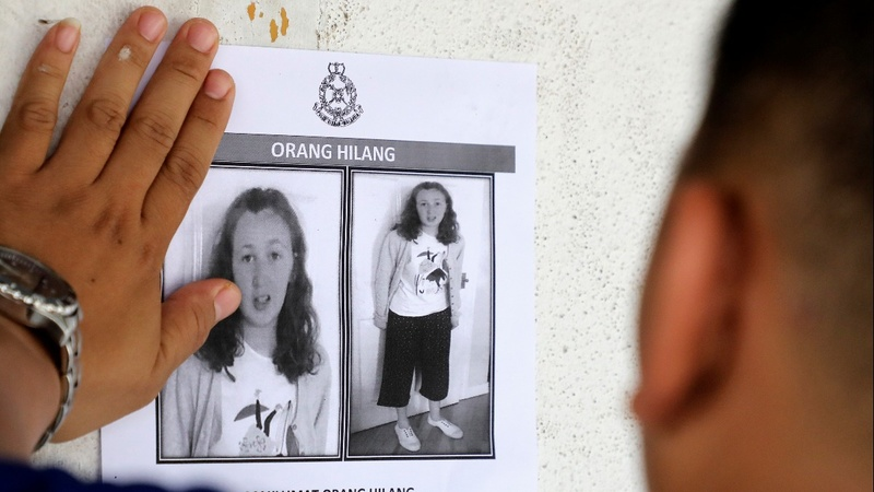 Malaysia steps up search for Irish teen