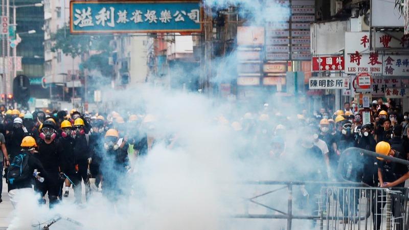 Scenes of violence as protests rock Hong Kong