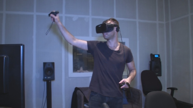 Music mixing in virtual reality