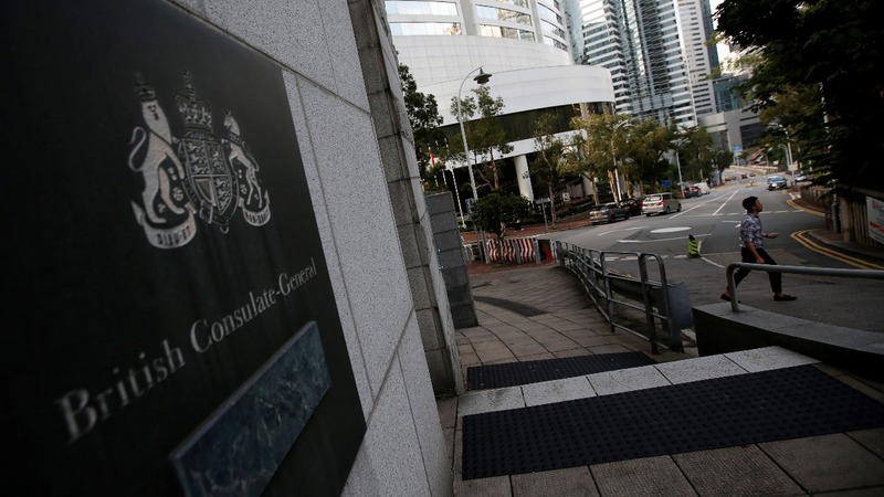 British HK consulate worker held in China - reports