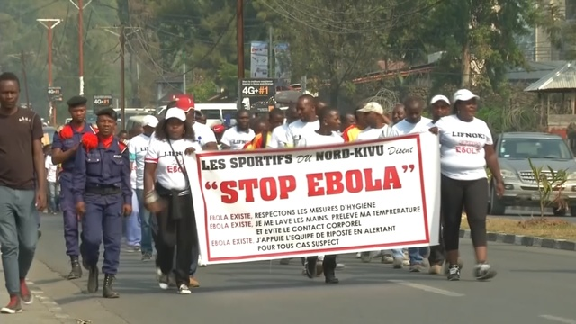 'Stop Ebola': Scores march in Congolese city of Goma