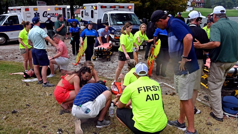 Six hurt after lightning strike during PGA Tour Championship