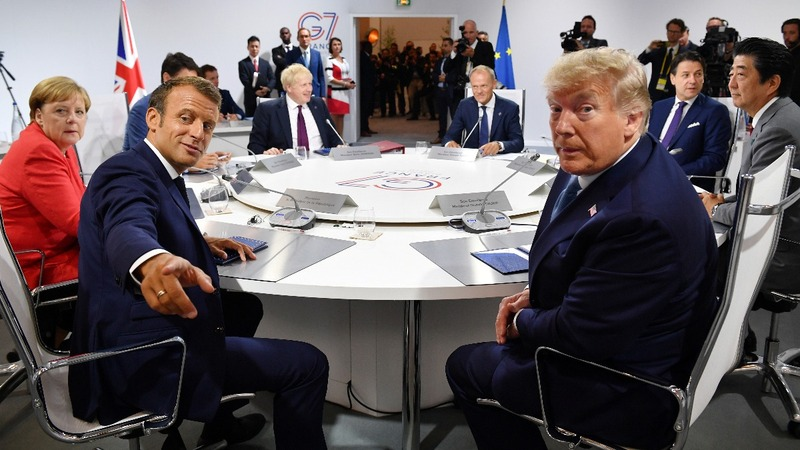 Tensions bubble to the surface at the G7 summit