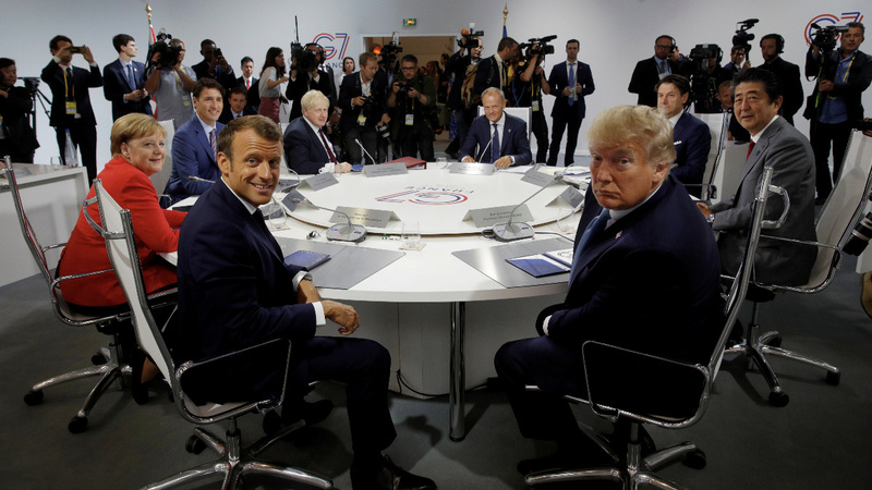 Trump moves to cool tensions as G7 summit wraps up