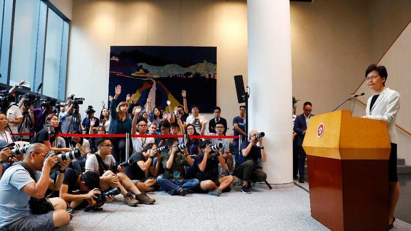 Hong Kong leader says violence becoming 'serious'