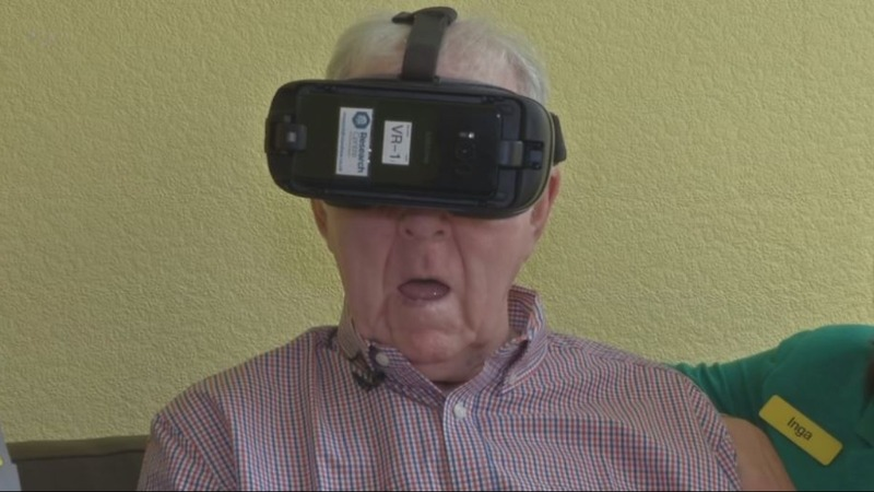 "VR gives dementia patients ""magical"" trip to past"