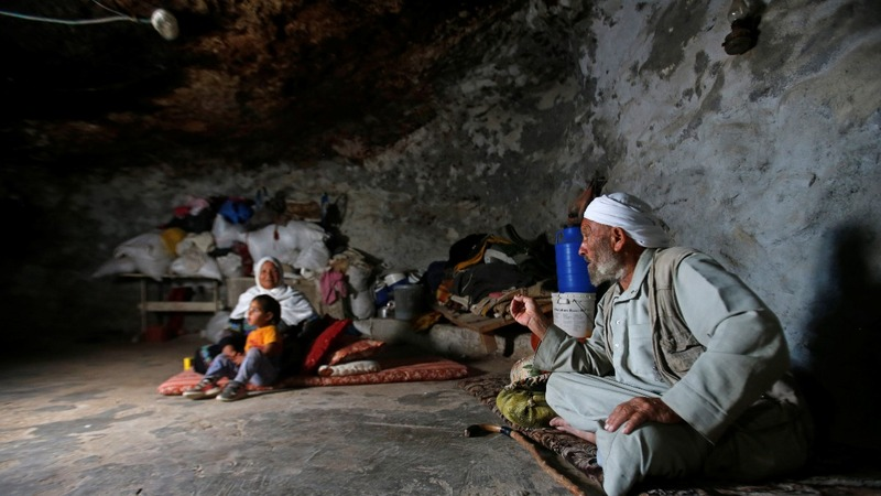 Palestinians face conflict in cave dwelling