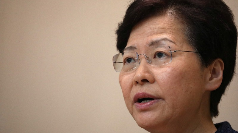 HK leader would 'quit' if she could