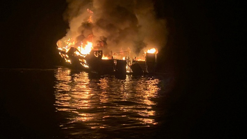 Deaths reported in California boat fire