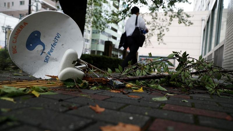 Tokyo slammed by deadly typhoon