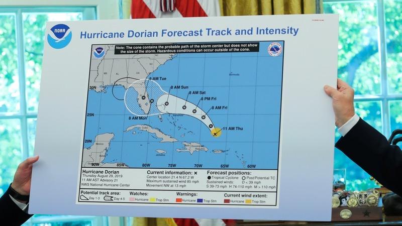 NOAA head defends agency after Trump Dorian tweet