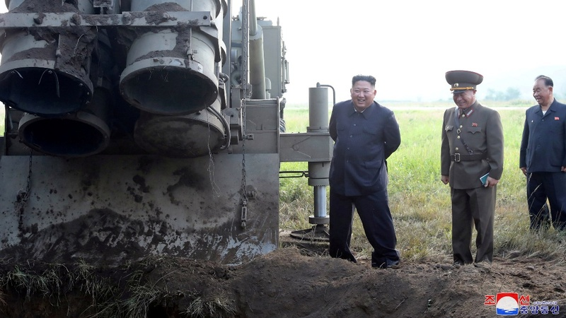 North Korea test-fires 'super large' launcher