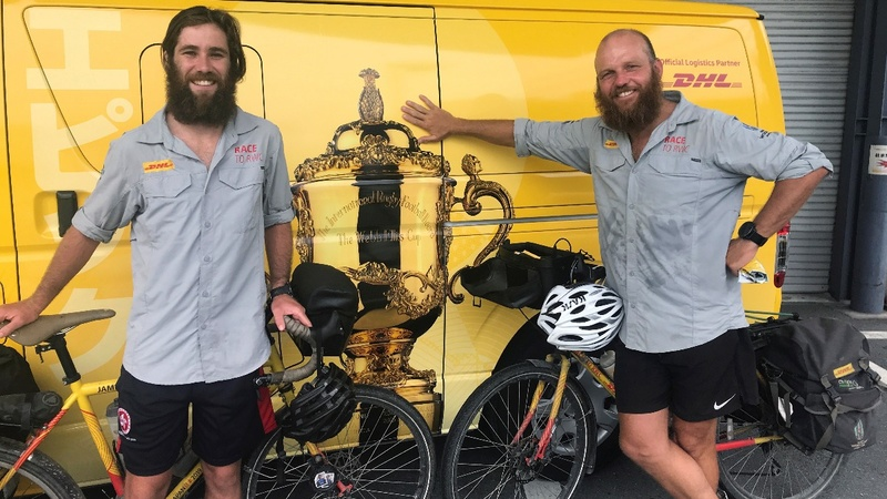 An epic bike journey to the Rugby World Cup