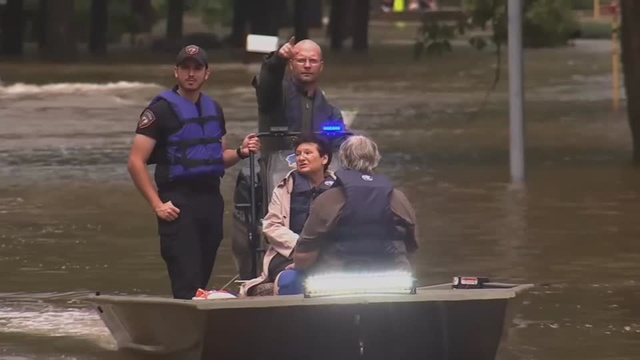 Fifty rescued from flooded Houston neighborhood