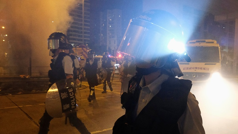 Hong Kong's Lam says police under pressure