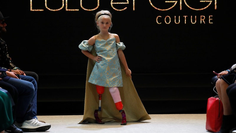 Nine-year-old amputee models at Paris Fashion Week