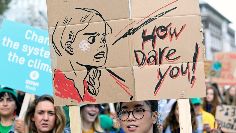 Children around the word join climate strike