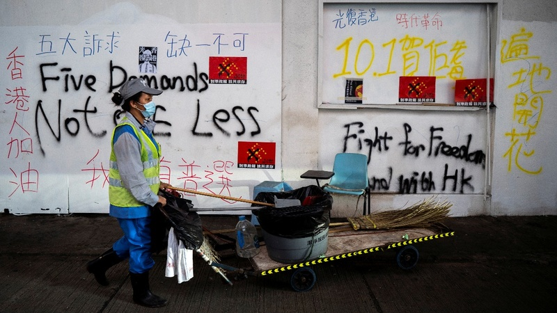 Hong Kong on edge ahead of China's National Day