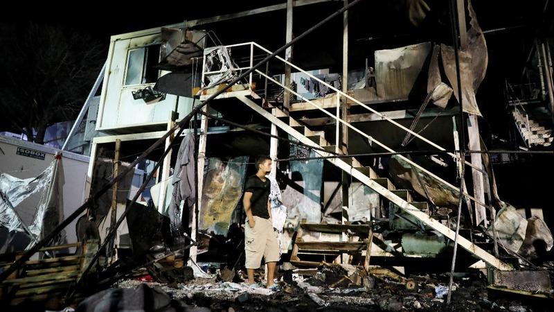 Crowded Greek refugee camp suffers deadly blaze
