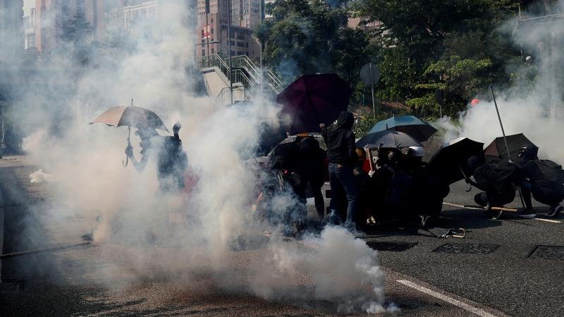 Hong Kong seethes on China National Day