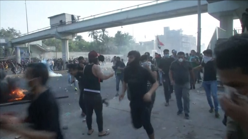 Police open fire on protesters in Baghdad