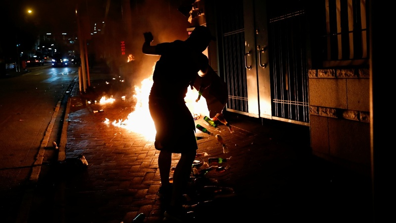 Hong Kong protesters vent anger over shooting