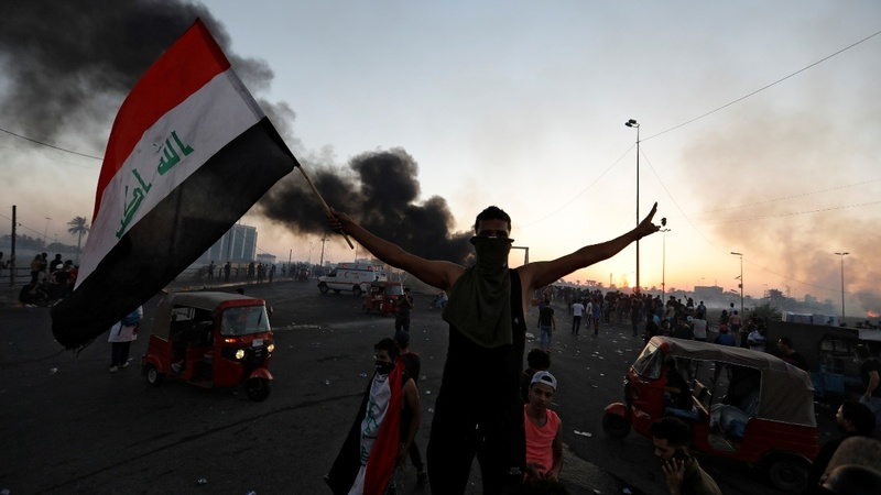 Death roll rises as Baghdad clashes continue
