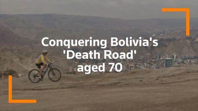 70-year old biking grandmother conquers Bolivia's 'Death Road'