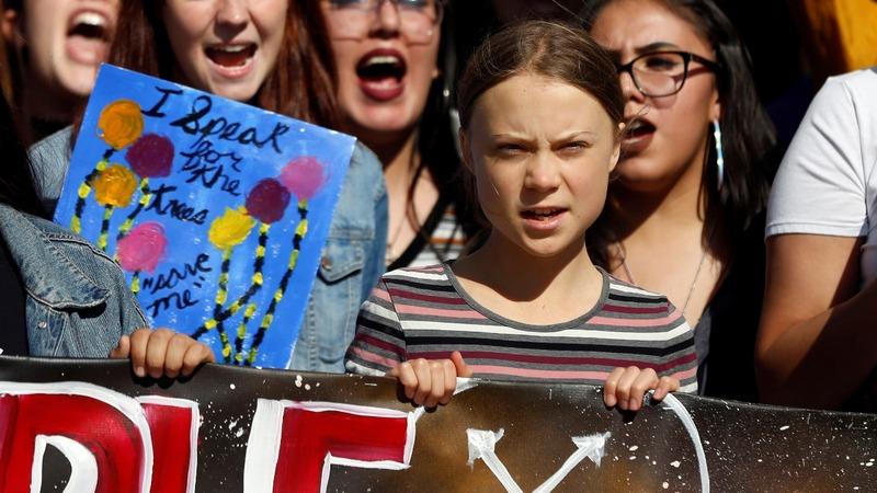Greta Thunberg leads South Dakota climate rally