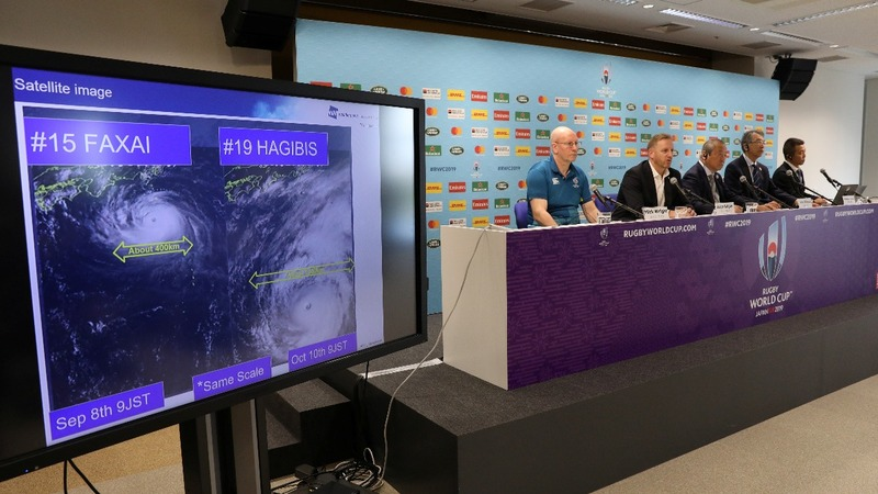Rugby World Cup games cancelled over Japan storm
