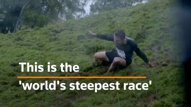 The world's steepest downhill running race