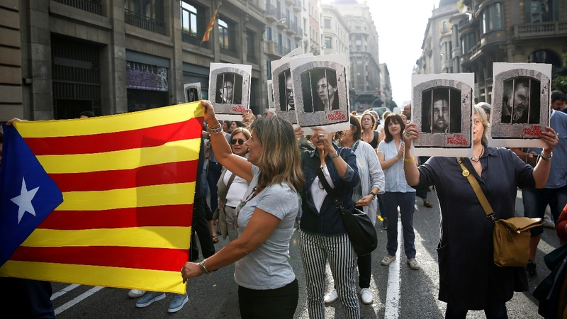 Spain jails Catalan separatist leaders