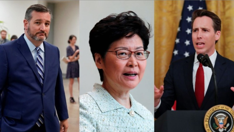 'Totally irresponsible' Lam slams U.S. senators