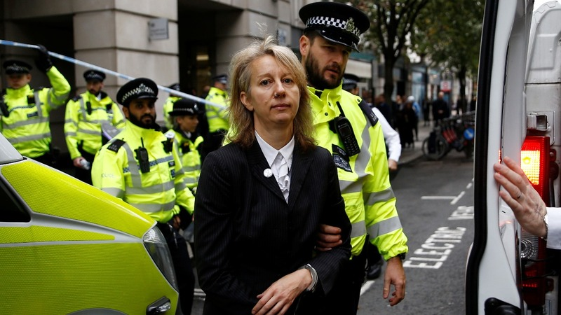Protesters defy British police order to halt climate change demonstrations in London
